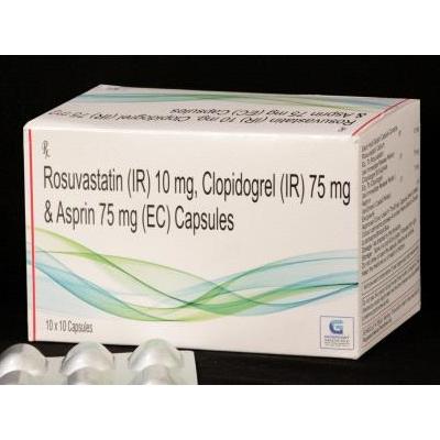 Rosu 10 + Clopi 75 + Aspirin 75 mg Tab