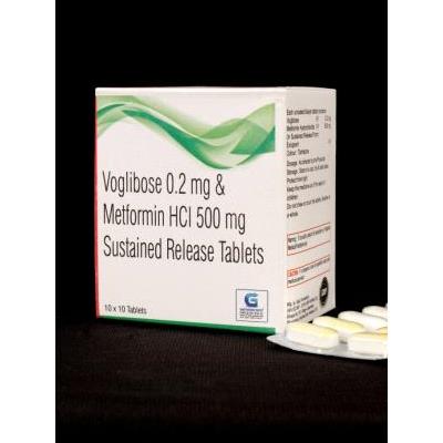 Voglibose 0.2mg & Metformin HCL 500mg SR Tab