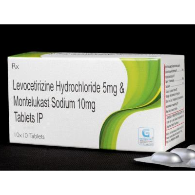 Levocetirizine Hydrochloride 5 mg & Montelukast Sodium 10 mg IP Tab