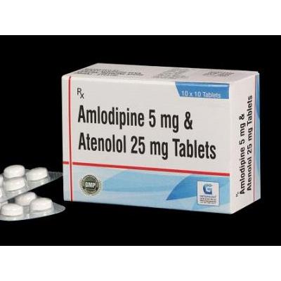 Amlodipine  5 MG & Atenolol 25 MG Tab