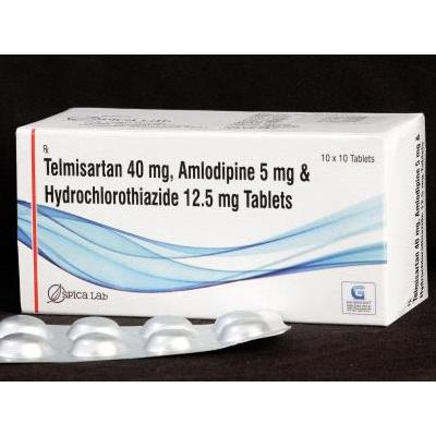 Telmisartan 40mg,Amlodipine 5mg & Hydrochlorothiazide 12.5 Tab