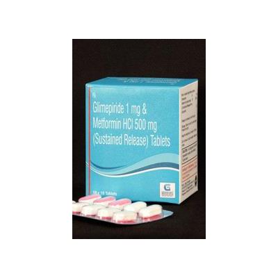 Glimepride 1mg& Metformin HCI 500mg(SR) Tab