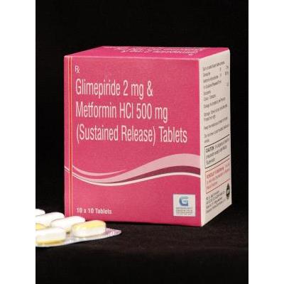 Glimipride 2+ Met HCI 500 mg (SR) Tab